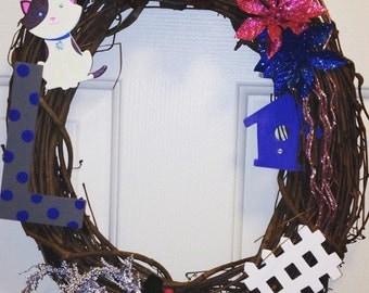 Twig wreath, wreaths, country wreath
