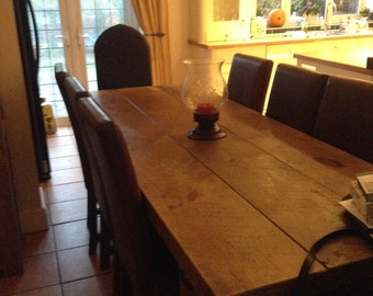 Rustic Farmhouse Shabby Chic Dining Table Reclaimed Characted Solid Wood