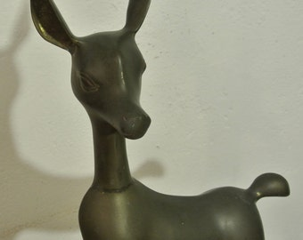 Antique bronze figure of a deer