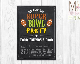 Super Bowl Invitation 5,Super Bowl Party Invitation, Super Bowl Invitation, Football Party, Super Bowl Party, Superbowl Invitation