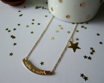 Make a wish on a star. Necklace. Free shipping.