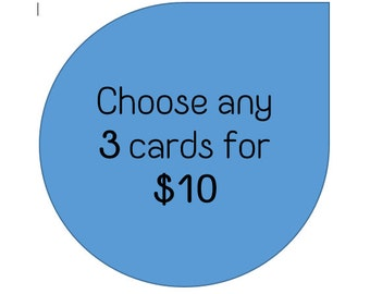 Greeting Cards - Mix and Match - 3 for 10.00