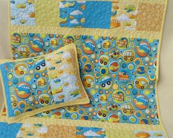 Baby quilt + pillow