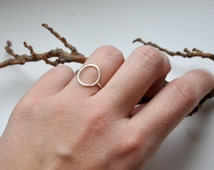 Silver circle ring Sterling silver ring Boho ring Stackable ring Midi ring Boho rings set of three rings Bohemian jewelry Silver jewelry