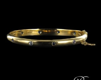 Bangle Bracelet gold yellow sapphires
