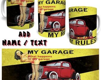 Kitchen rules etsy for Vintage garage signs uk