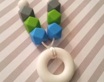 Teether Ring Teething/Nursing Necklace