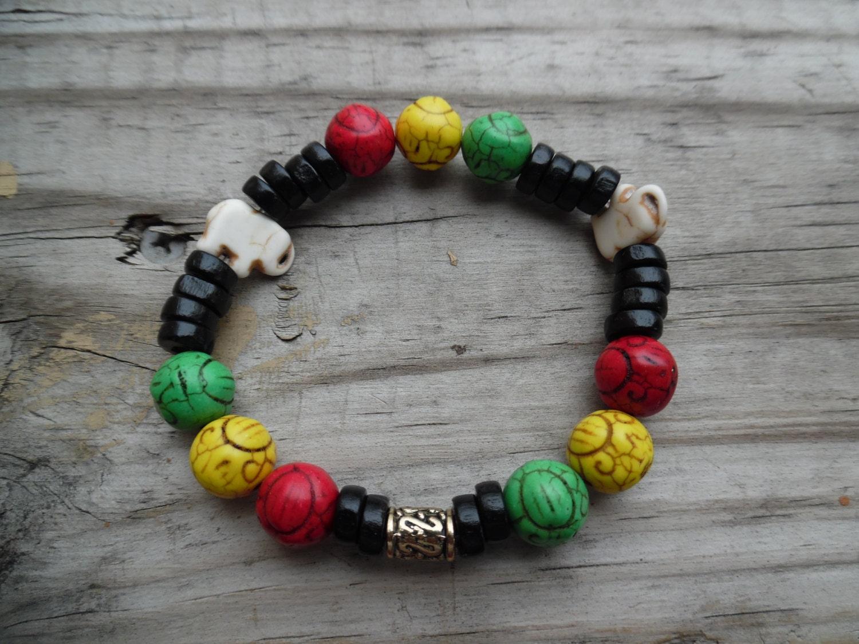 rasta bracelet jamaican bracelet by kamsmother on etsy