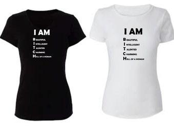I am ladies T -shirt fun sneaky