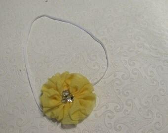 Flower rhinestone heaband