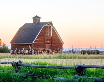 Barn in Summer Sunset