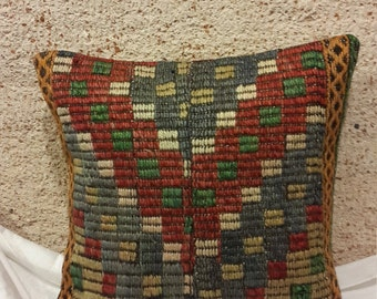 kilim pillow,cicim pillow,embroidery pillow,40x40cm ('16x'16 inches)(122)