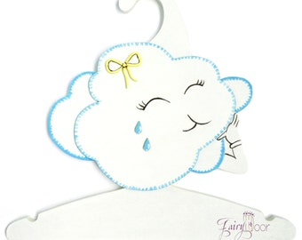 Children's Clothes Hangers 3D-designed, Children's Coat Hangers, Children's Hangers, Kids Hanger - Cloud