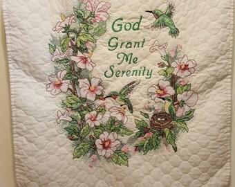 God Grant Me Serenity Cross Stitch