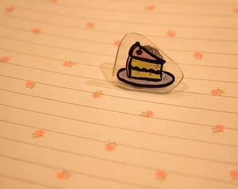 birthday cake superglued to a pin i got from michaels