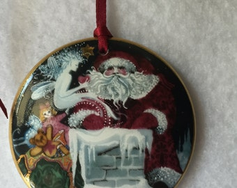 B&G 1992 Porcelain Santa Clause Ornament