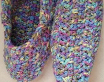 Hand Crochet - Houseshoes Size Medium/Large