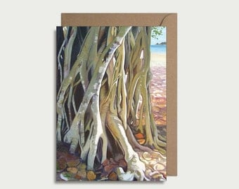 Greeting card - Beach Banyan