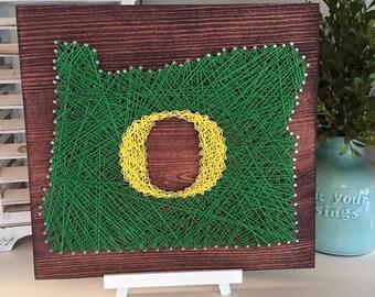 Oregon Ducks String Art Board