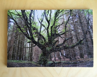 Hand-cut wooden jigsaw puzzle: Tree of Life