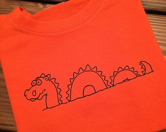 Loch Ness Monster / Nessie /  Scotland  / Scottish Novelty Clothing / Rampant Lion / Scotland Clothing/Halloween Nessie