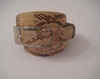 Python-Woman Belt Women's belts Genuine Python