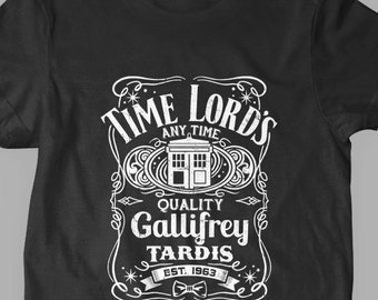 New Doctor Who Quality Gallifrey Tardis T-Shirt Kids and Adult Sizes