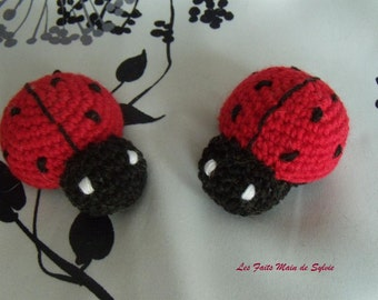 Red and black Ladybug crochet