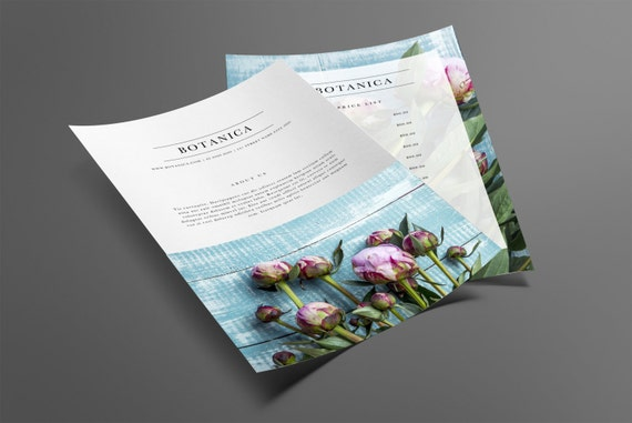 Price List Template | Price Guide | Downloadable Price List | Printable  Marketing | Branding | Template Design
