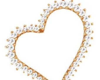 Silver gilded heart 925 (pendant)