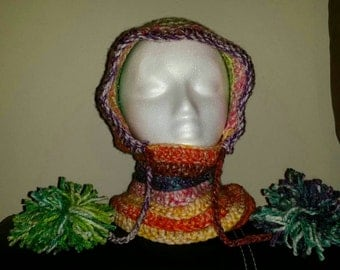 Child hooded cowl (multi-colored)
