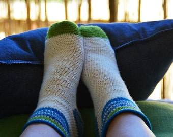 Green And Blue Socks
