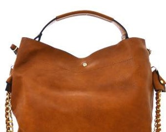 2 in 1 Soft Faux Leather Bag Brown