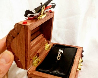 Disneys Pirates of the Caribbean Pirate inspired Treasure Chest Engagement Ring Box