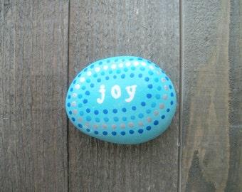 Joy Inspirational Stone, Kindness Rocks, Prayer Stone, Meditation Stone, Painted Rocks, Party Favors, Gift Ideas, Christmas Gift