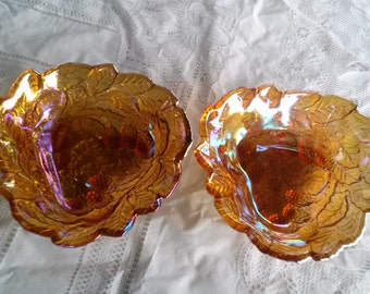 Marigold Carnival Glass Dishes