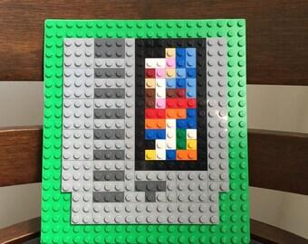 Super Mario Bros/Duck Hunt Lego NES Cartridge Mosaic
