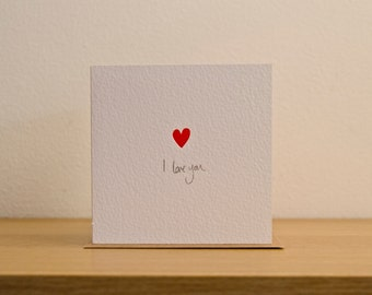 I love you, heart, cut out card