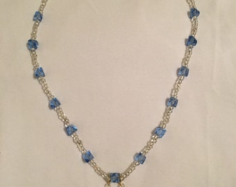 Twin seahorse beaded necklace