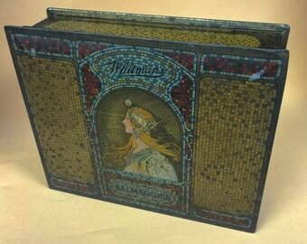 Vintage Whitman's Tin Box Salmagundi Chocolate Candy Tin 1920's