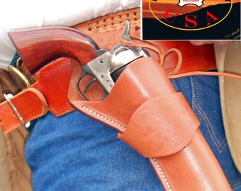 OWB Western 1873 Cross Draw Heritage Colt Ruger Uberti Pietta Chiappa Gun Holster SAA