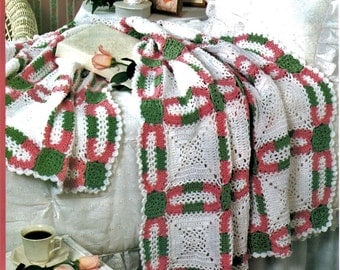 Crochet Wedding Ring Afghan PATTERN PDF instant download