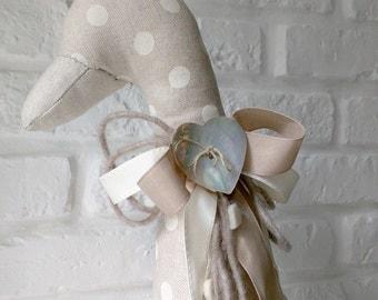 Goose in hand-sewn fabric DoorStop