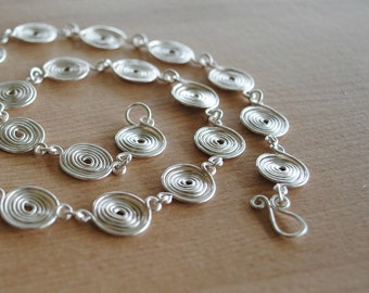 Silver Spiral Necklace (closed) jewellery
