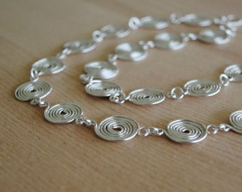 Silver Spiral Necklace in Sterling Silver (closed) jewellery
