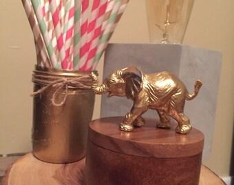 Gold elephant jewelry box