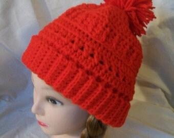 Red Crochet Tam - Handmade Tam