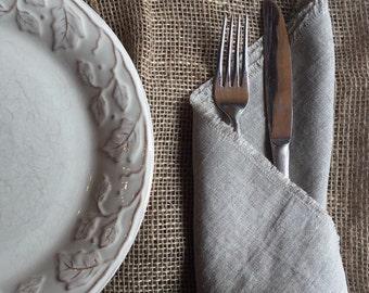 Set of 2, Natural color linen napkins