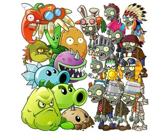 Plants vs Zombies 70 images clipart