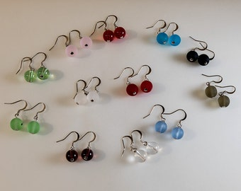 Colored glass earring